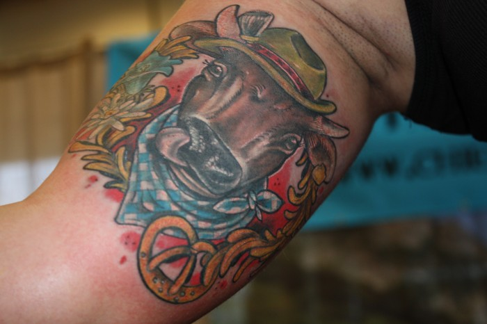 Bayern-Tattoo Kuh 2012